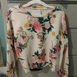 NWT love,fire sweatshirt
